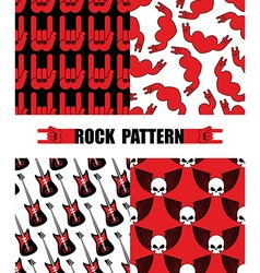 Rock pattern Set seamless patterns theme of rock vector image vector image