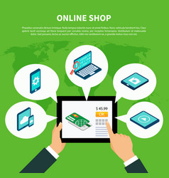 shopping online isometric concept vector image vector image