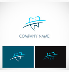 tooth dentist abstract business logo vector image