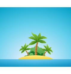 Tropical Island Nature Landscape vector image