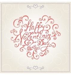 Valentines day congratulations card vector image