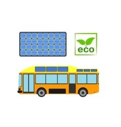 Alternative power concept eco car vector