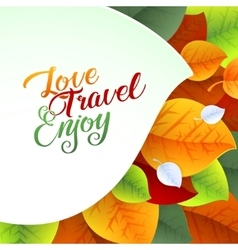 Love Yourself Flyer Brochure Design Template vector image vector image