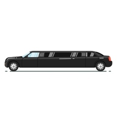 Luxurious limousine isolated on white background vector