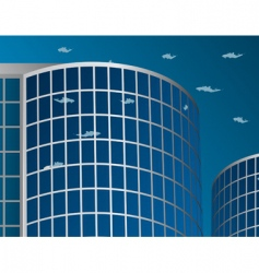 office building on the skyline vector image