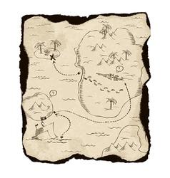 old treasure map vector image vector image