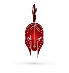 roman or greek helmet spartan helmet vector image