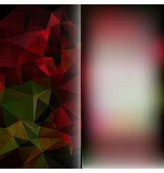 Set of polygon triangles and blurred backgrounds vector image