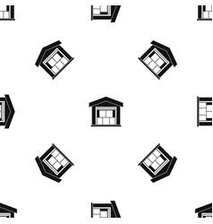 warehouse building pattern seamless black vector image vector image