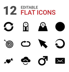 12 arrow icons vector