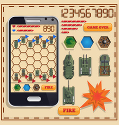 A game on military theme vector