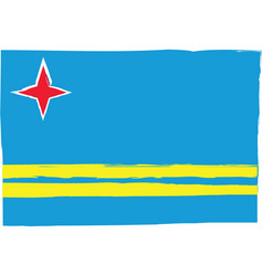 abstract aruba flag or banner vector image