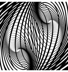 Abstract swirl movement illusion vector