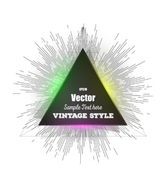 Abstract triangle banner Vintage style star burst vector image