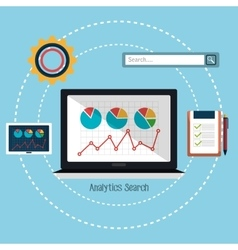 Analitycs search and SEO graphic vector image