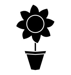 beautiful flower icon vector image