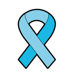 blue awareness ribbon vector image