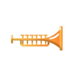brass trumpet musical instrument vector image