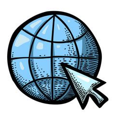 cartoon image of web design icon vector image