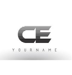Ce c e black and white horizontal stripes letter vector