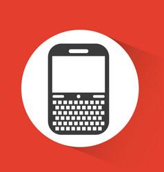 Cellphone device icon vector
