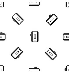 charger pattern seamless black vector image