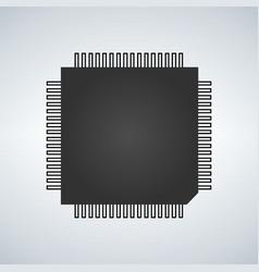 Chip processor icon vector