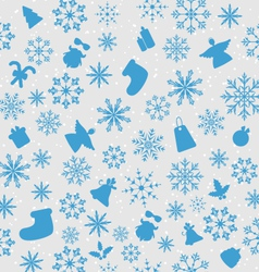 Christmas wallpaper with traditional elements vector
