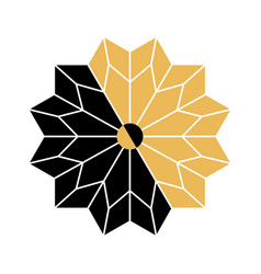 Circular ornamental arabic symbols vector