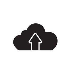 cloud upload icon in flat style icon for apps ui vector image