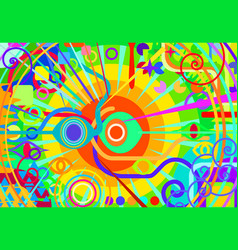 Color primary abstract hypnosis vector