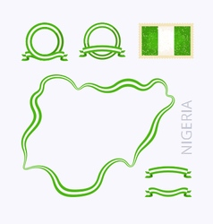 Colors of Nigeria vector image