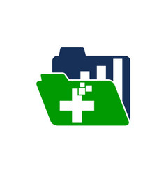 digital health document business vector image