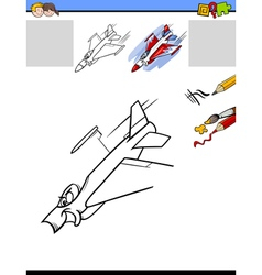 Draw and color activity task vector
