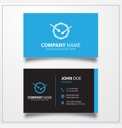 Drum music instrument icon business card template vector