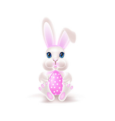 easter rabbit with egg vector image