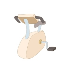 Exercise bike icon cartoon style vector