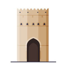 fort historical building muscat city architecture vector image