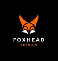 fox head logo icon vector image