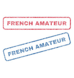 French amateur textile stamps vector