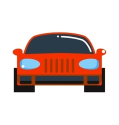 Generic red car front view design flat vector image