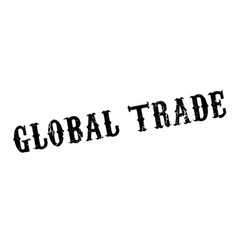 Global trade rubber stamp vector
