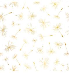 gold foil dandelion seeds seamless vector image