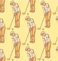 Golfist vector image