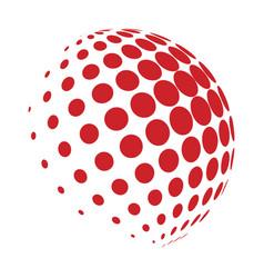 halftone globe logo symbol icon design vector image