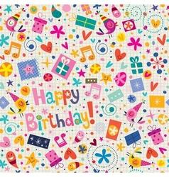 Happy Birthday pattern 3 vector image