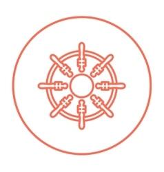 Helm line icon vector image