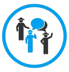 Human Figures Discussion Circled Icon vector image