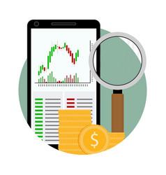 Icon exchange trading vector