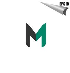 initial m logo monogram design template simple vector image